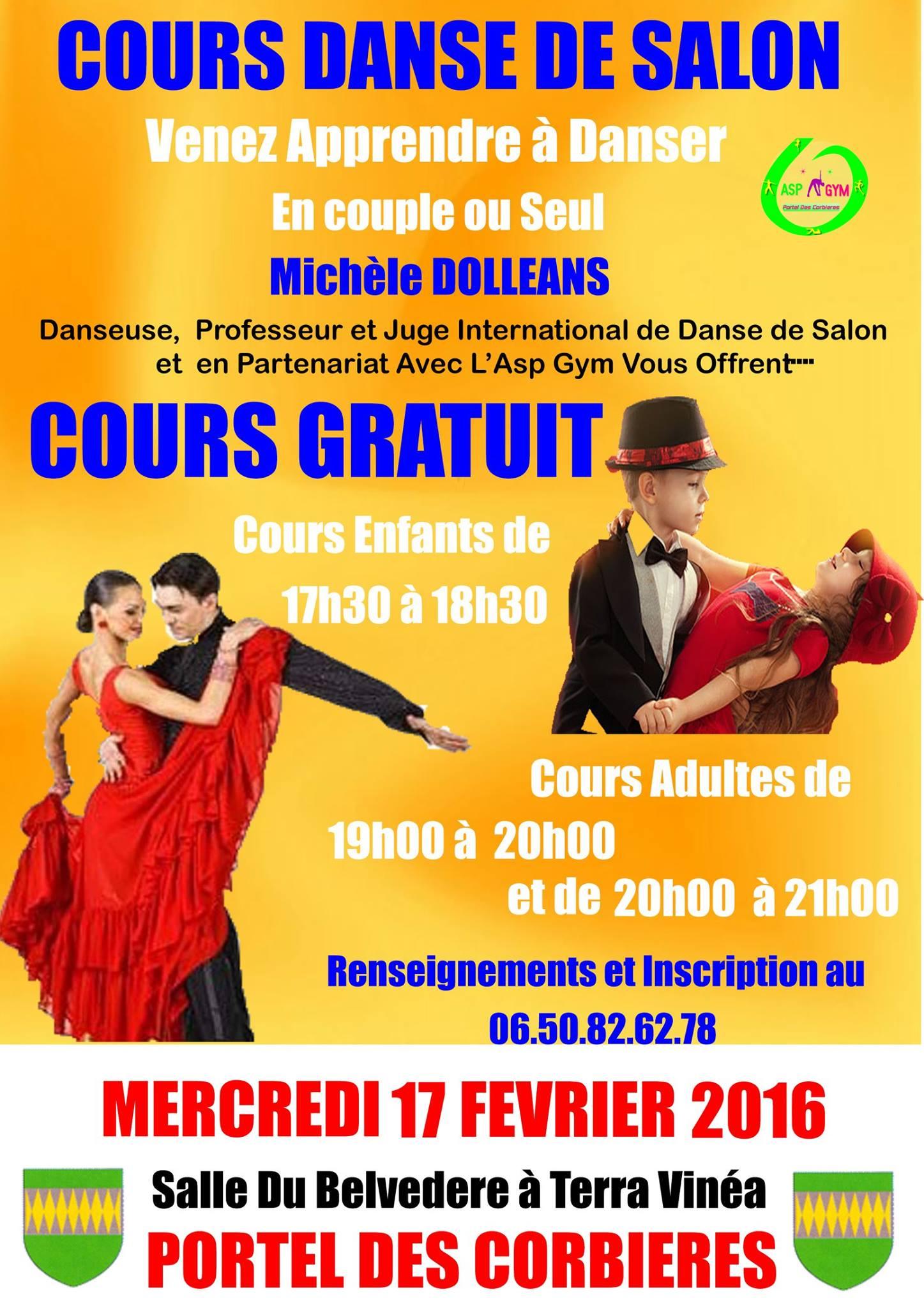 Site officiel de la mairie de portel des corbieres for Recherche partenaire de danse de salon